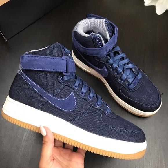 purchase cheap 59c1e 102e8 Brand New Nike Air Force 1 denim Hi SE binary Blue